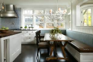 bench seating kitchen kitchen transitional with banquette