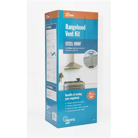 Pacific Kitchen Vent Pacific Air 125mm Steel Roof Rangehood Venting Kit