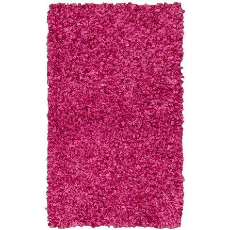 overstock pink rug nourison overstock shag bright pink 2 ft 3 in x 3 ft 9 in accent rug 096210 the home depot