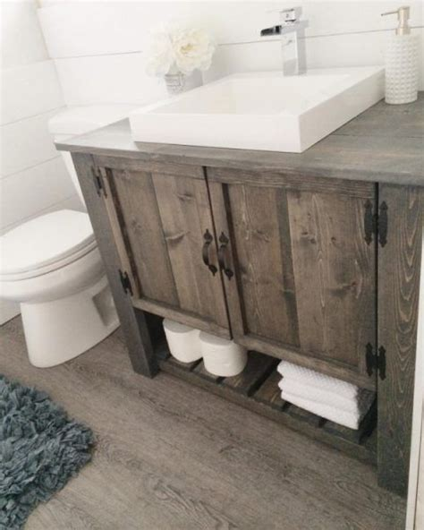 Building A Bathroom Vanity Cabinet 25 Best Ideas About Rustic Bathroom Vanities On Small Rustic Bathrooms Small