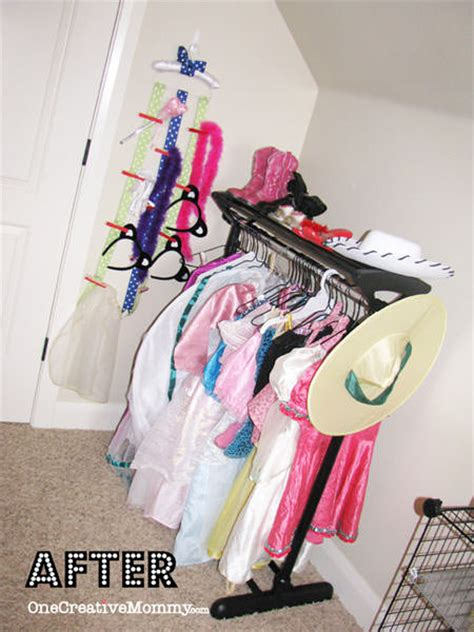dress  storage ideas  kids onecreativemommycom