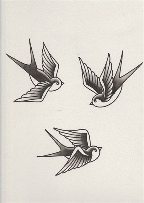 swallow tattoos for men swallows with black shading completed tattoos