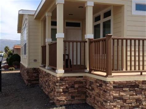 Decorative Mobile Home Skirting Manufactured Home Stairs And Porch