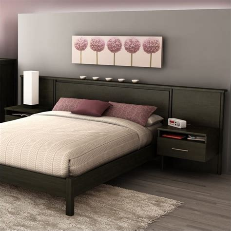 headboard with nightstands south shore gravity queen platform bed headboard