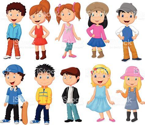 imagenes niños kinder linda ni 241 os de dibujos animados colecci 243 n arte vectorial