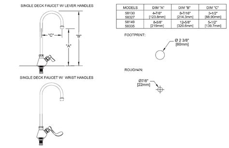 Faucet Size by Fisher Stainless Steel Single Commercial Faucets