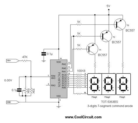 3 digits digital volt meter coolcircuit