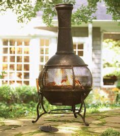 Hton Bay Chiminea by Solid Cast Aluminum Construction With Stainless Steel
