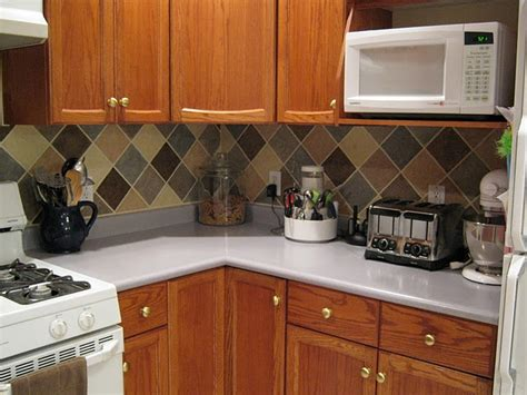 Kitchen Backsplash Ideas On A Budget Tile Looking Backsplash On A Budget Kitchen Ideas