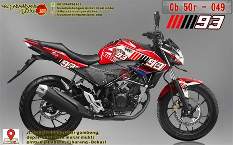 Striping Honda Cb 150 Marcques decal striping honda cb 150 r marc 93 merah 049 nusakambangan sticker