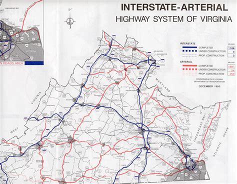 highway map of virginia arterial highway system in virginia