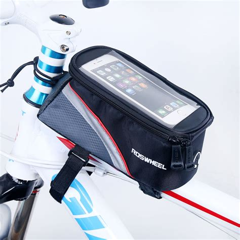 Bicycle Phone Holder 4 Penyanggah One Touch T0210 1 bicycle mobile phone pouch 4 2 5 0 5 5 inch touch screen top frame storage bag cycling mtb