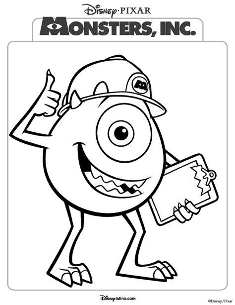 Monstruos S A Dibujos Para Imprimir Y Colorear Inc Dibujos A Color