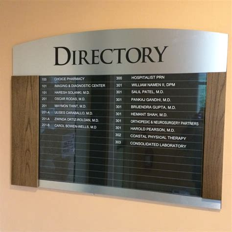 Automotive Wall Murals directory signs i wayfinding i healthcare signsbnsigns com