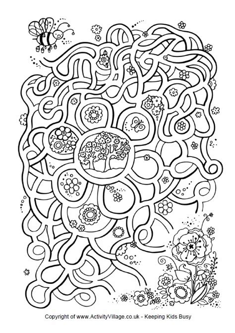 printable spring maze flower maze spring pinterest
