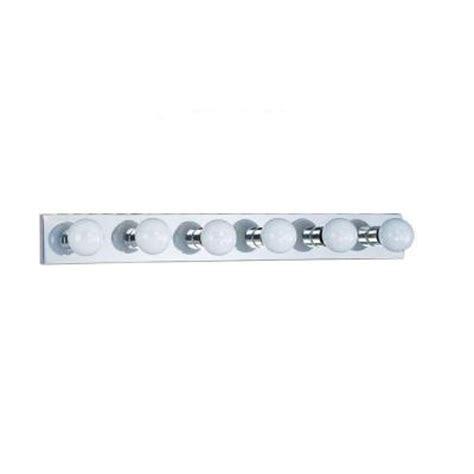 Vanity Light Bar Home Depot by Sea Gull Lighting Center Stage 6 Light Chrome Vanity Bar