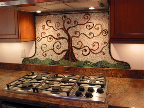 kitchen mosaic backsplash classic view of big