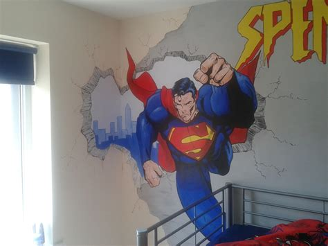 superman wall mural and superman wall mural painted murals painted canvases murals wall