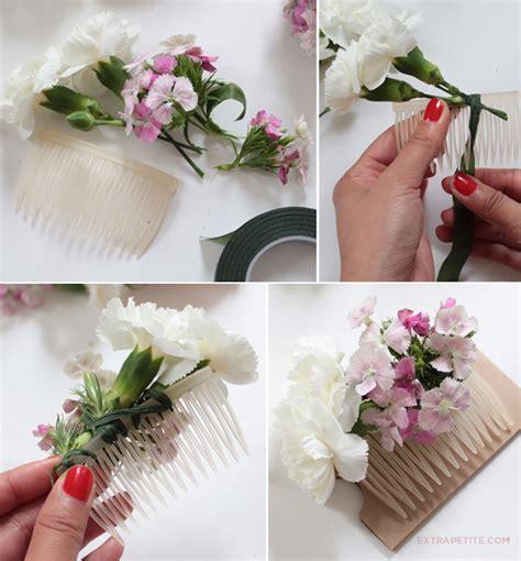 Wedding Hair Flower Diy by Flower Crown Comb Diy Tutorial Bridal Shower Activity