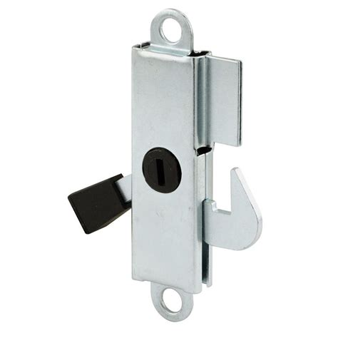 Sliding Patio Door Locks Prime Line Sliding Door Lock Aluminum With Teel Hook And Lever E 2105 The Home Depot