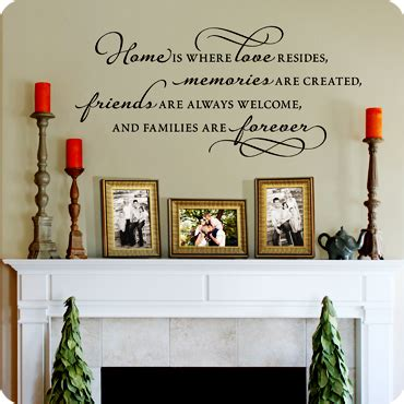 living room wall stickers quotes living room wall decals home is where love resides wall quote wall decal easy
