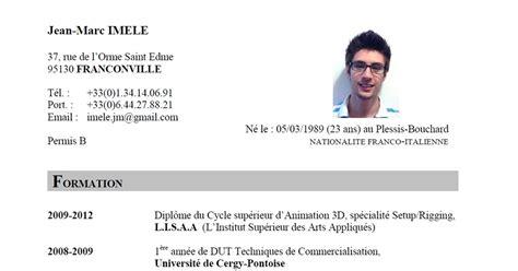 Comment Ecrire Cv Franàçais by Curriculum Vitae Curriculum Vitae En Francais