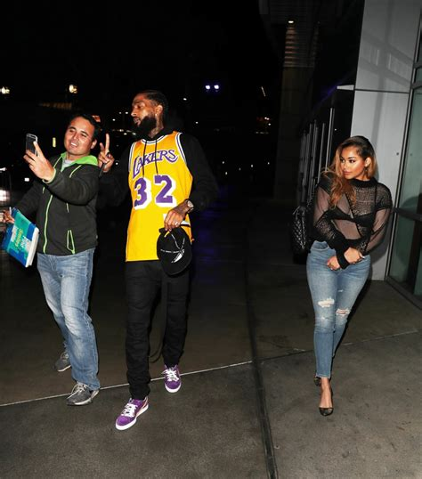 Celebrity Interior Homes nipsey hussle and lauren london leave the lakers christmas