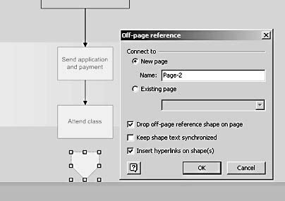 visio on page reference exle creating page flowcharts microsoft visio