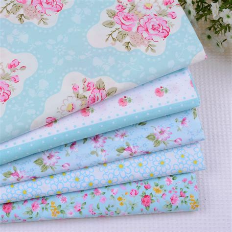 Tilda Patchwork Fabric - 5pcs lot 50 40cm shabby chic floral blue tilda doll cotton