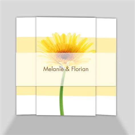 Hochzeitseinladung Gelb by Fotokarte Hochzeitseinladung Gelbe Gerbera