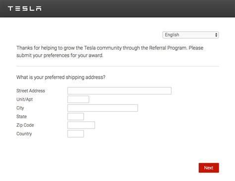Tesla Program Tesla Invites Referral Program Winners To Select Prizes