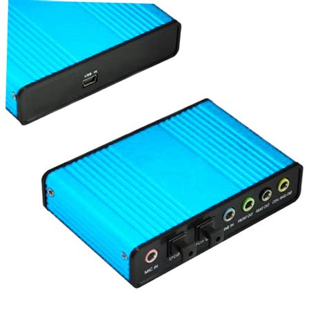 Usb Sound Card Laptop usb 6 channel 5 1 audio external optical sound card