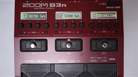 Zoom B3n Bass Pedal zoom b3n b3next multi effects processor for bass patch 028 036