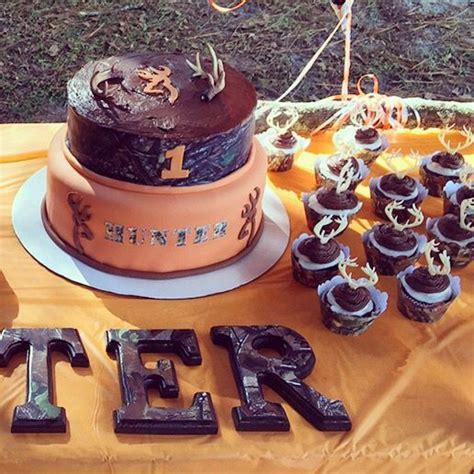 antler cake camouflage  birthday boy orange camo cupcakes chocolate hunter hunters st