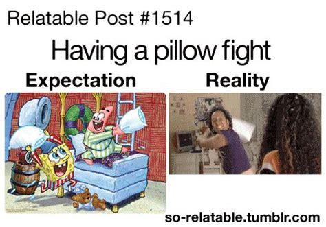 Pillow Fight Meme - teenager posts tumblr spongebob funny gif true true