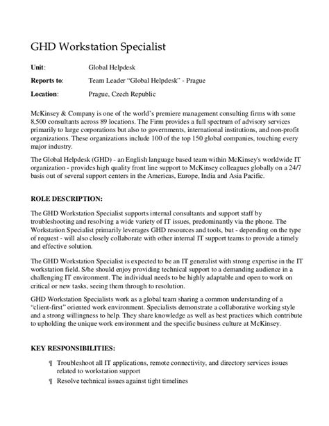 Nutritional Consultant Cover Letter by Ghd Workstation Specialist Prague