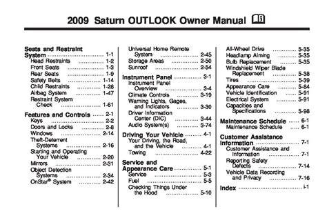 service manual automotive repair manual 2009 saturn outlook navigation system 100 2008 2009 saturn outlook owners manual just give me the damn manual