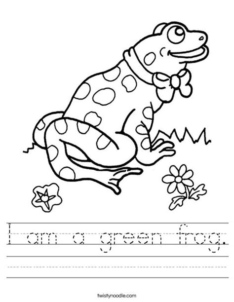 frog coloring worksheet i am a green frog worksheet twisty noodle