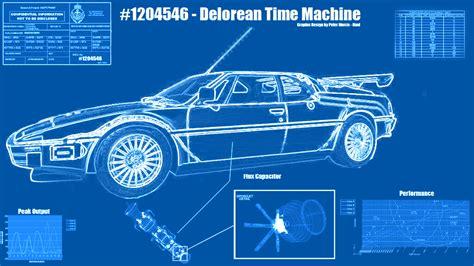 delorean time machine blueprints image gallery delorean blueprints