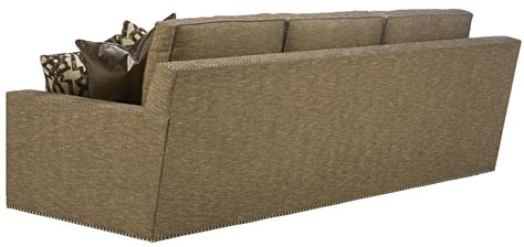 gray sofa with nailhead trim sleek steal grey sofa with chic nailhead trim