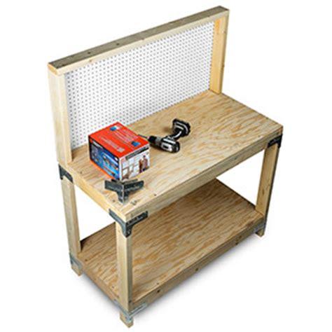 simpson strong tie bench kit wbsk workbench or shelving hardware kit