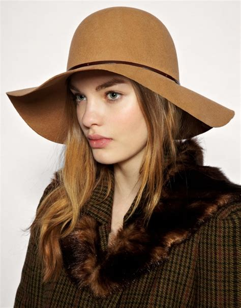 wide brim hats in brown color for nationtrendz
