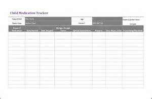 medication spreadsheet template child medication tracker template ms excel formal word