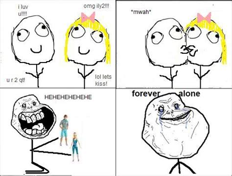 Meme Forever Alone - willfully blind forever alone sad but true