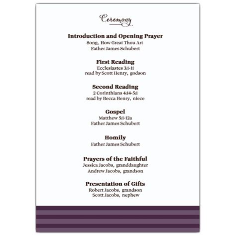 A Celeb Ion Sympathy Purple Funeral Program Paperstyle