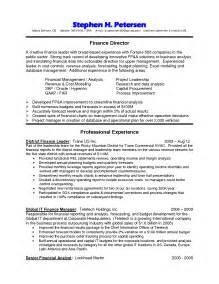 Finance Resume Sles by Finance Director Resume Sales Director Lewesmr