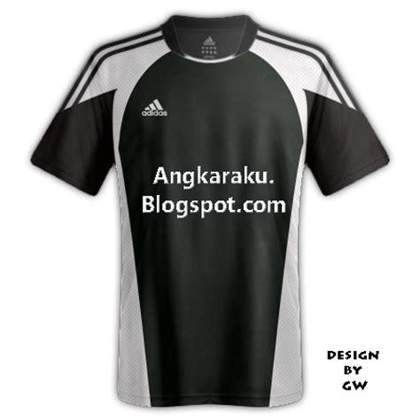 Baju Kaos Hitam Adidas 2 angkaraku desain kaos futsal dan sepakbola hitam 1