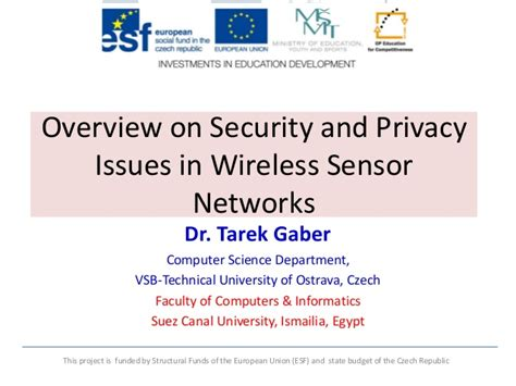 overview on security and privacy issues in wireless sensor