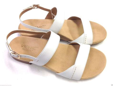 sandals with arch support vionic orthaheel leather slide sandals w arch