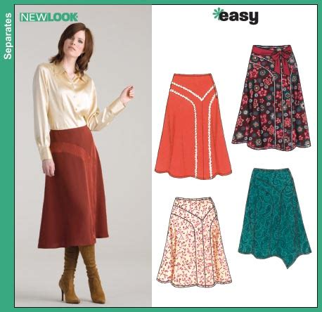 pattern review uk new look 6623 misses skirts